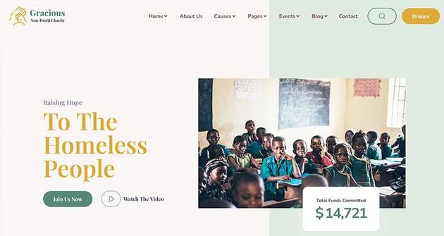 Gracious – Charity and Donation WordPress Theme