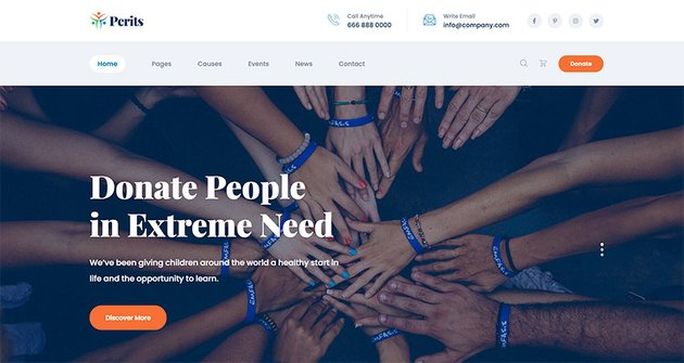 Perits – Non Profit Charity HTML Template