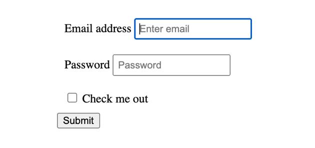 form input outline