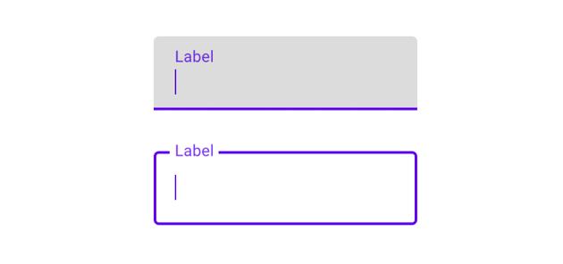 Material Design floating label options