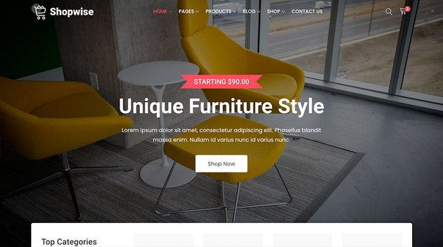 Shopwise - eCommerce Bootstrap 4 Multipurpose HTML Template