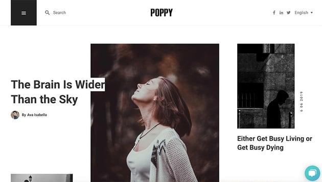 Poppy - Blog and Magazine HubSpot Theme