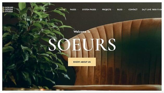 Soeurs – Architecture & Interior Designers HubSpot Theme