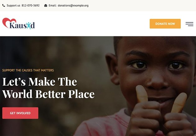 Kausid - Charity & Fund Raising HubSpot Theme