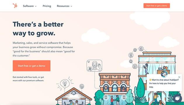 hubspot homepage