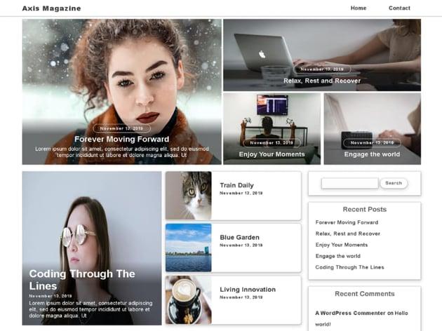 Axis Magazine Free WordPress News Theme