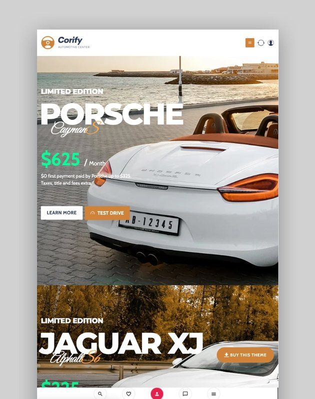 Corify—WordPress Car Listings and Dealership Theme
