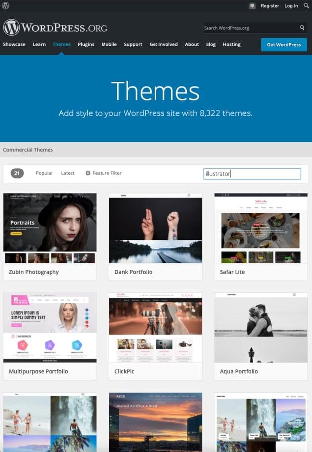Kostenlose WordPress-Themes für Illustratoren