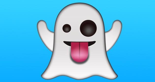 A winking ghost emoji