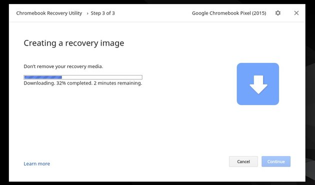 The utility will create the USB Recovery Utility on the selected media
