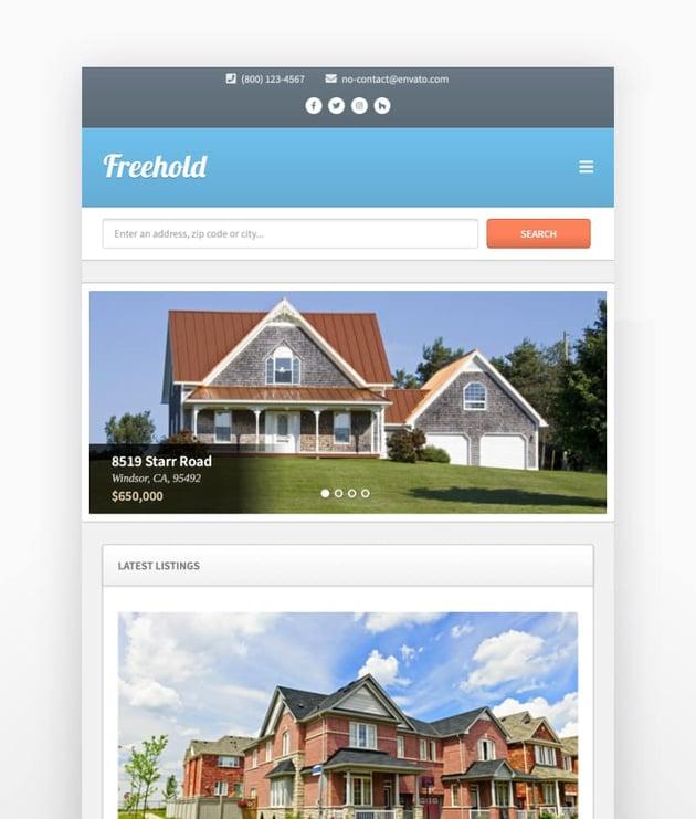 Freehold - Tema de WordPress para inmobiliaria con diseño responsive