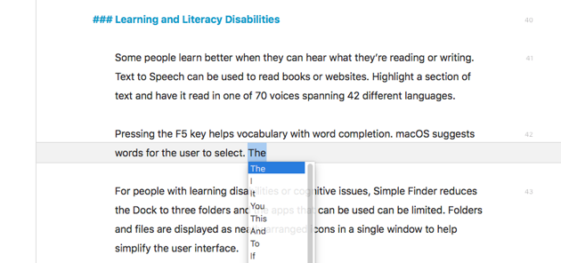 Pressing the F5 key helps vocabulary with word completion