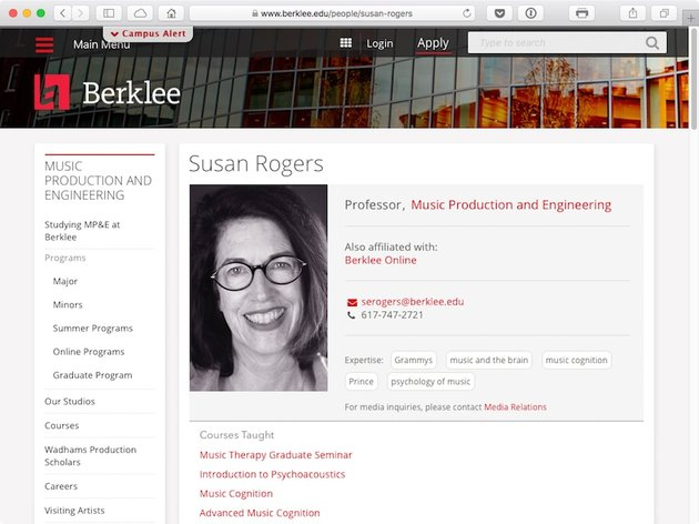 Susan Rogers Professor of Music Production and Engineering