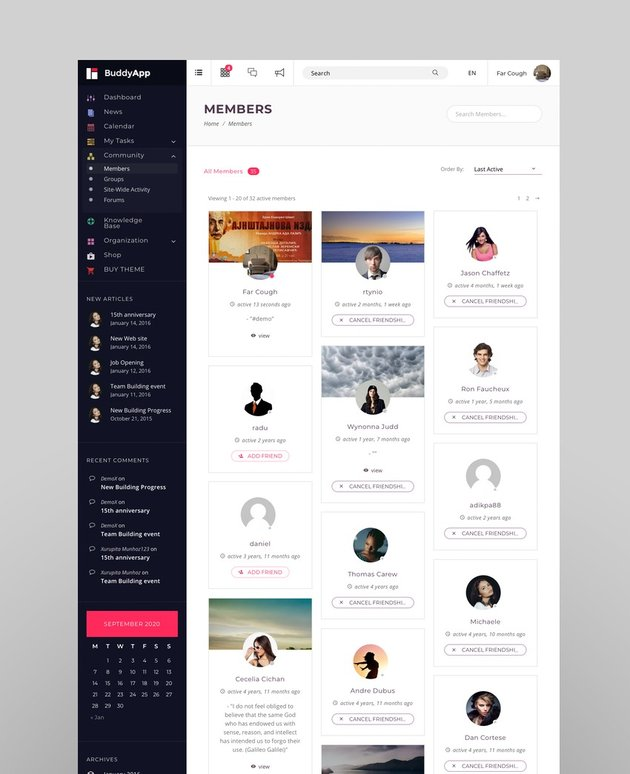 BuddyApp - Intranet and Extranet WordPress Template