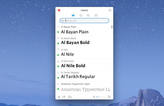 RightFont for macOS is a lightweight font manager