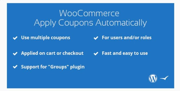 WooCommerce Apply Coupons Automatically