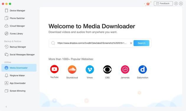 AnyTrans Media Downloader