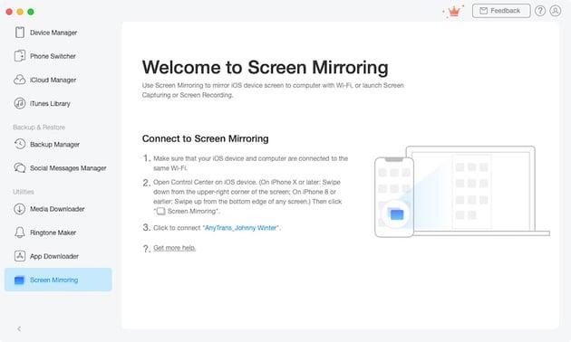 AnyTrans Screen Mirroring
