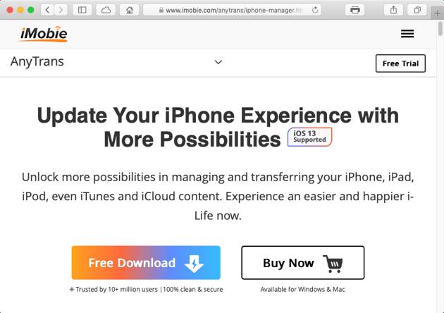 The iMobie website