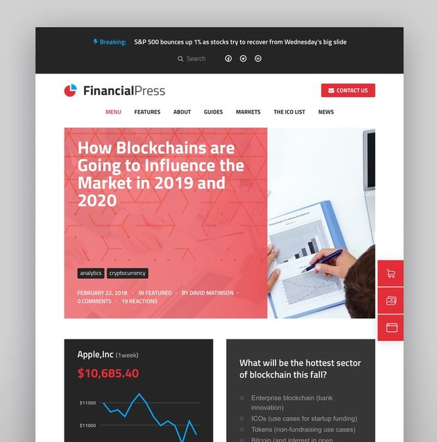 ChainPressFinancial WordPress Business Blog Theme