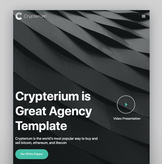 Crypterium - Tema de WordPress para Bitcoin y criptomonedas