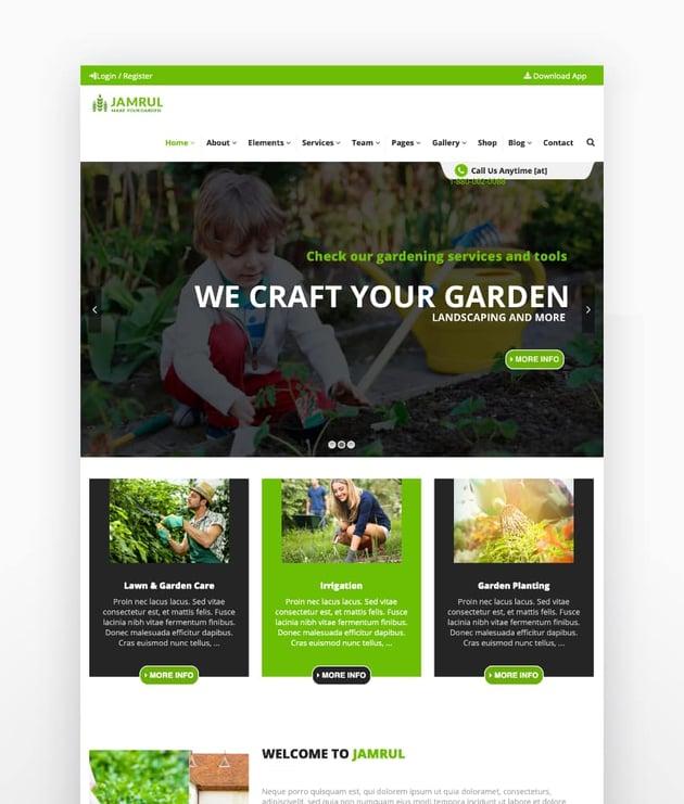 Jamrul - Landscaping WordPress Theme
