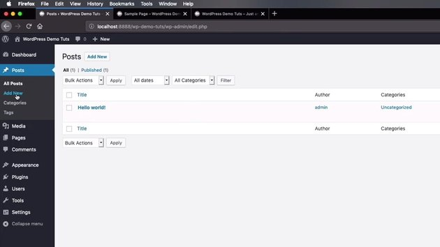 Managing WordPress Posts from the back-end
