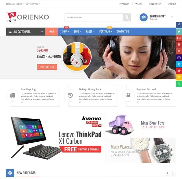 Orienko—WooCommerce Responsive Digital Theme