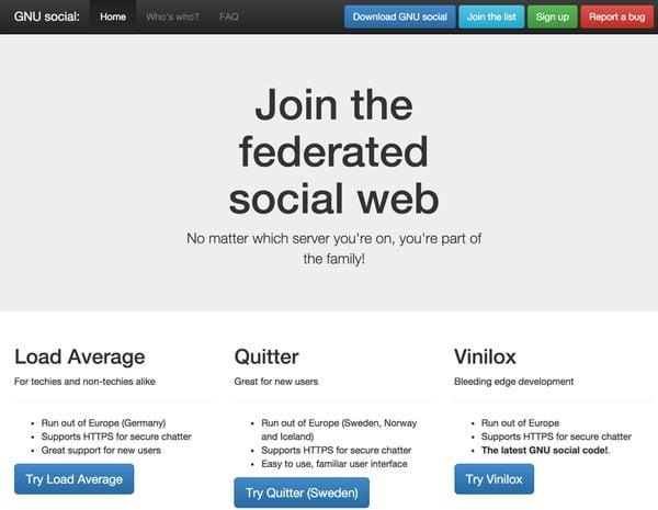 GNU Social Home Page