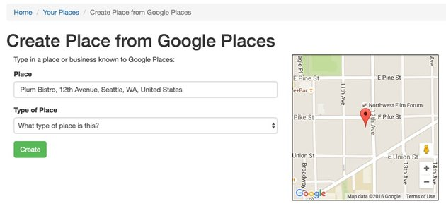 Yii Ajax - Google Maps UX Example