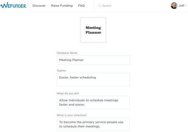 Building Your Startup Crowdfunding - Build Your Profile Page