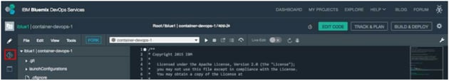 IBM BlueMix and DevOps - Commit to Git repository