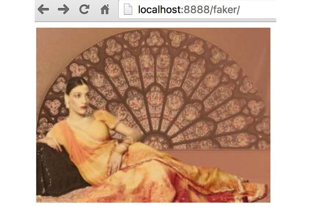 Using Faker Images