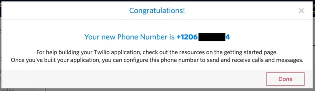 Building Startups Text and SMS - Twilio Your New Phone Number is