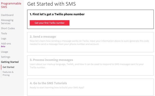 Building Startups Text and SMS - Twilio Get Your Phone Number