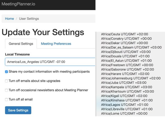 Building Your Startup Timezone Detection - Update Your Settings Dropdown