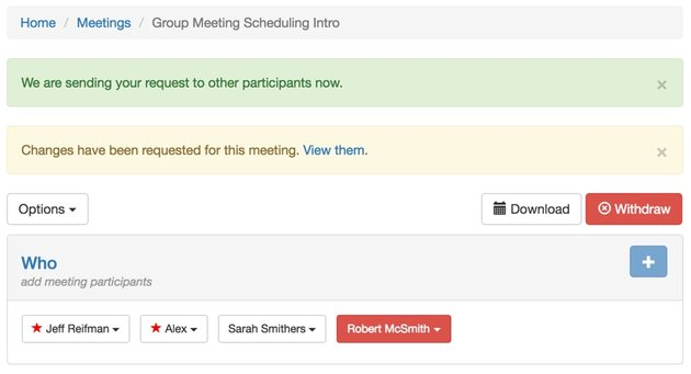 Startup Series Group Scheduling - Confirming Your Request