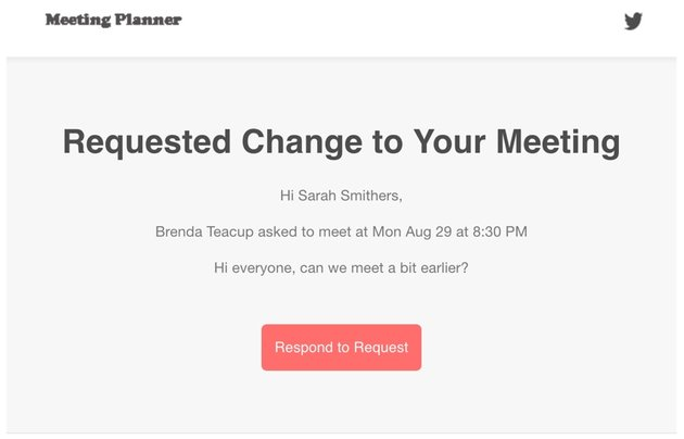 Startup Series Group Scheduling - Email Notification of Requested Changes to Participants