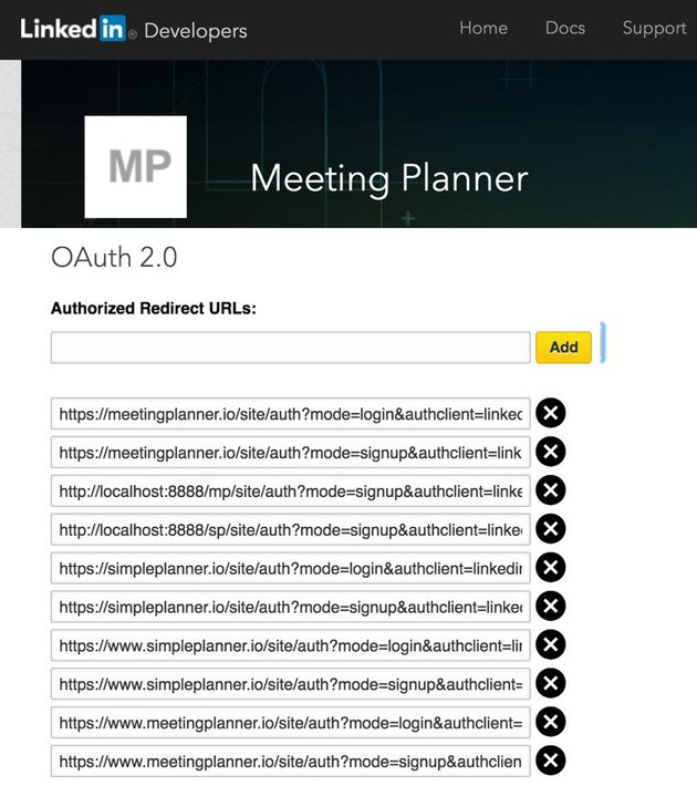Building Your Startup Multiple Domains - LinkedIn OAuth Configuration URLs