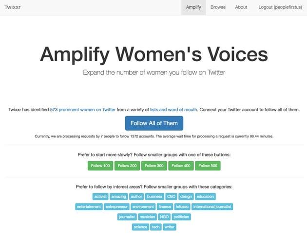 Building Twitter API Twixxr Service Home Page