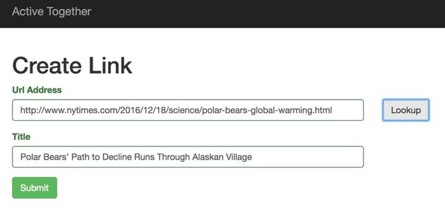 New York Times API - Create Link Form with NYT Story URL and Headline from Article Search API