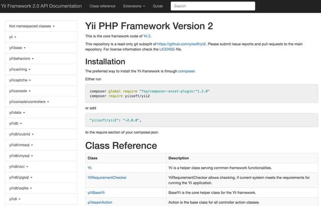 Programming With Yii - Auto-Generated Framework Documentation