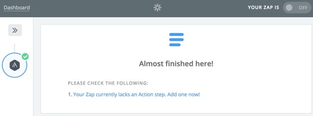 Assembla Zapier Automated Workflow - Create an Action Step at Zapier