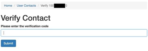 How to Verify a Phone Number via SMS - Verify Contact Form requesting code