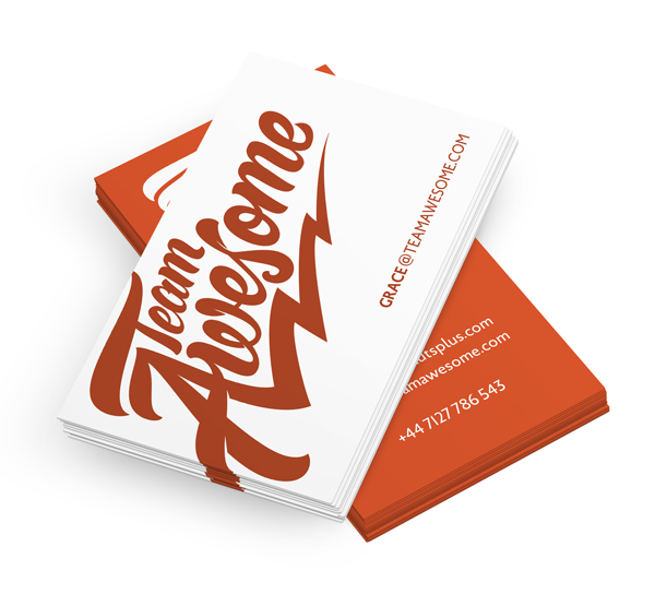 Create a Branded Business Card for Team Awesome
