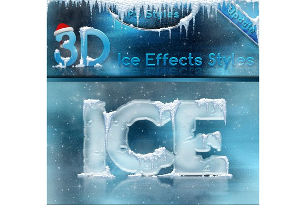 3D Ice Cool Freeze and Snow Effects Styles