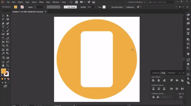 Add a rounded rectangle