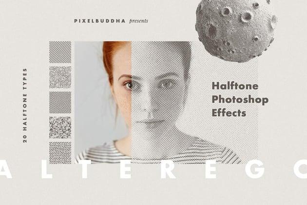 Halftone Pattern Photoshop Action