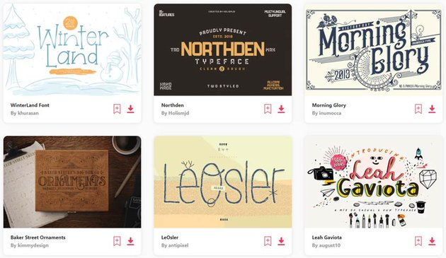 Thousands of Fonts on Envato Elements