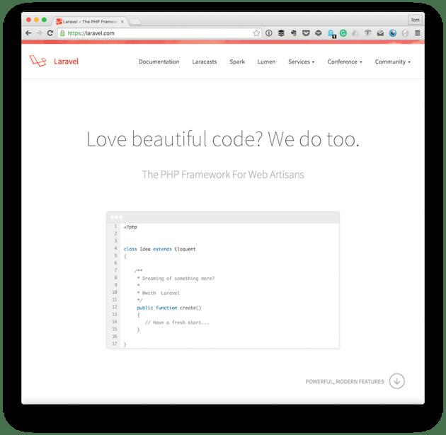 The Laravel Homepage